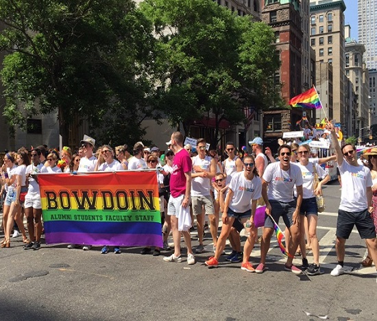 Proud Polar Bears March in NYC Pride Parade