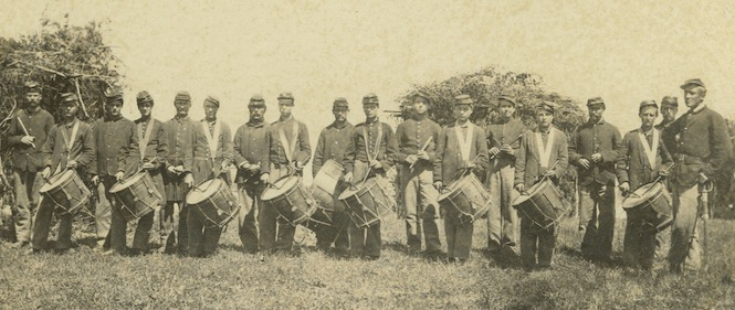 Drum and fife corps, 30th Maine Vol. Infantry (Hubbard Family Papers)