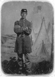 Elisha Coan (ME Medical School Class of 1870), Corporal, 20th Maine Vol. Infantry (Elisha Coan Coll.)
